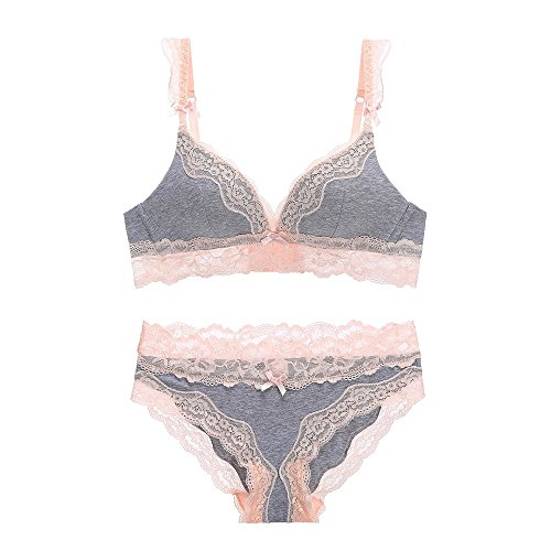 5a29aa18ae7f Rose town Women Push up Underwear Bra and Panty Set Lace Soft Cotton Cup  Lingerie Set