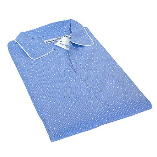 Soho Guinga del punto ligero Albornoz vestido de la mujer, más fino pliegue de algodón resistente, azul claro en varios tamaños