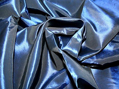 Plain Shot Taffeta Dress Fabric Navy Blue - per metre