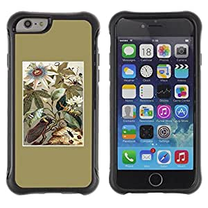 LASTONE PHONE CASE / Suave Silicona Caso Carcasa de Caucho Funda para Apple Iphone 6 / Golden Floral Field Flowers Summer