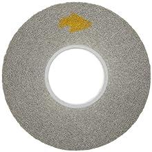 """Scotch-Brite EXL Deburring Wheel, Silicon Carbide, 4500 rpm, 8"""" Diameter x 1"""" Width, 3"""" Arbor, 8S Medium Grit (Pack of 3)"""
