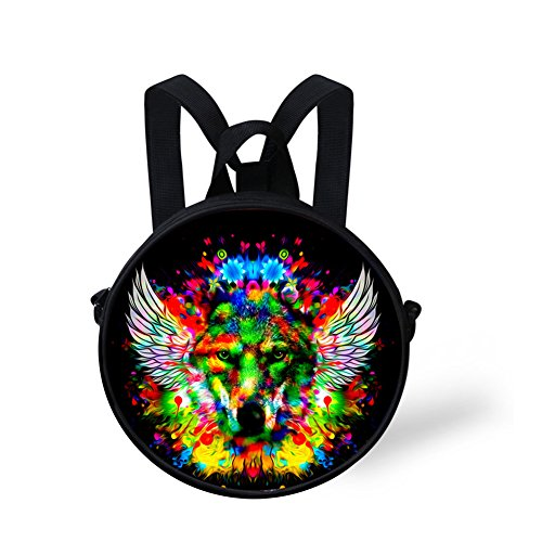 Round for FunnyPrint Shoulder Women Round Print Girls Backpack Amazing Bag and V6LCA4563I qq4xwI8p