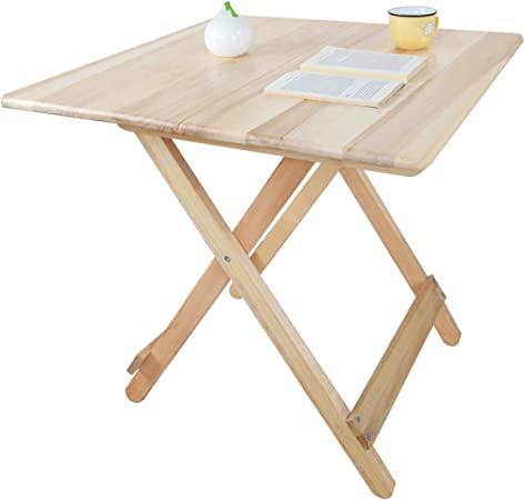 Yyhsnd Solid Wood Folding Table Foldable Table Simple Dining