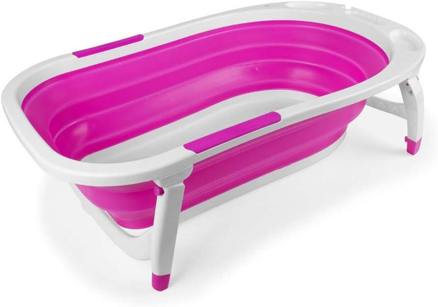 Interbaby Bañera Bebé Plegable Rosa - Bañeras para bebés y bañeras de viaje