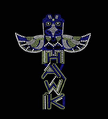 Seattle Totem Football Rhinestone Iron on Transfer