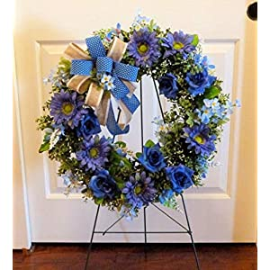 Summer Cemetery Wreath, Father's Day Cemetery Wreath, Summer Grave Wreath 8