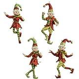 """RAZ Imports - 5.5"""" Decorative Elf Ornaments (Set of 4)"""