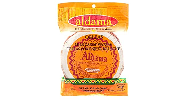 Amazon.com : Aldama Oblea Grande Milk Candy Dulce De Leche Mexican Candy, 13.93 oz (400 g) (13.93 oz (400 g) x 1) : Grocery & Gourmet Food
