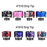 Satelliter Drip Tip Kit, 810 Drip Tip, 510 Drip Tip, 8 Pack Standard Resin Drip Tip Connector for Ice Maker Coffee Mod(H01)