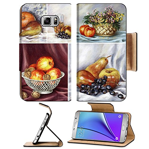 liili-premium-samsung-galaxy-note-5-flip-pu-leather-wallet-case-food-fruits-apples-nuts-orange-grape