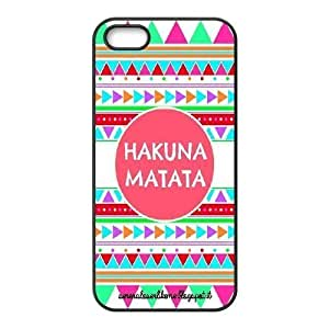 K-G-X Phone case For Apple Iphone 5 5S Cases Case-Pattern-17 Hukuna Matata Quotes Protective Back Case Kimberly Kurzendoerfer