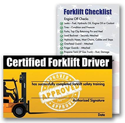 .com: forklift certification training cards (package of 10 ...