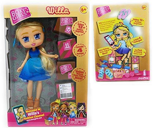 (Boxy Girls WILLA 8 inch Doll With 4 Surprise Packages)