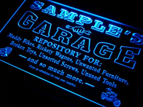 pp1564-b Christian's Garage Repair Shop Room Bar Beer Neon Light Sign