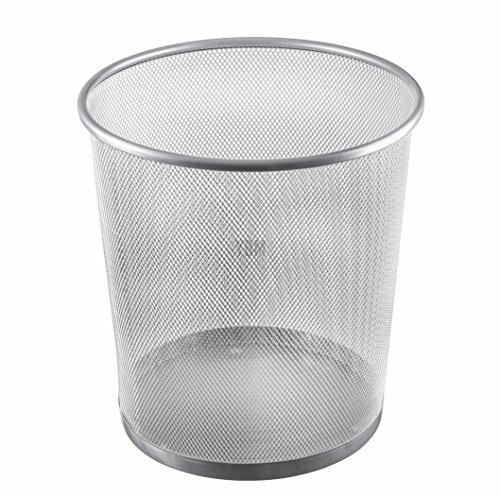 Ybmhome Steel Mesh Round Open Top Waste Basket Bin Trash Can for Office Home 2486 (1) ()