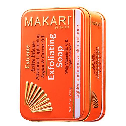 Makari Extreme Carrot & Argan Oil Bar Soap 7oz. - Anti-Aging Soap Exfoliates & Lightens Skin with Organiclarine - Whitening Treatment for Dark Spots, Acne Scars, Sun Patches & Hyperpigmentation