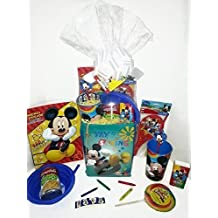 Disney Mickey Mouse Gift Basket, Get Well Soon, Care Package, Kids Action Pack, Mickey Mouse Toy, Coloring Book, Bag, Tissues, Stickers, Cup + Candy, Crayons, Soup Bowl & Campbell's Soup 10pc Bundle