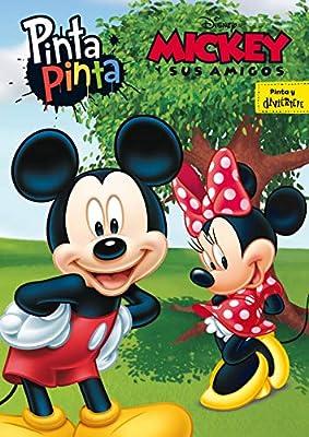 Mickey Y Sus Amigos Pinta Pinta Libro Para Colorear Amazon Es