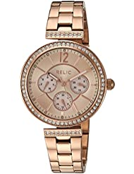 Relic Womens Harper Quartz Stainless Steel Casual Watch, Color:Rose Gold-Toned (Model: ZR15903)