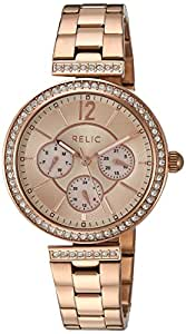 Relic Women's 'Harper' Quartz Stainless Steel Casual Watch, Color Rose Gold-Toned (Model: ZR15903)