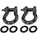 Trailhead 2 Pack 3/4″ D-Ring Bow Shackles with Isolator Rings, Heavy Duty Shackles 4 3/4 Ton WLL (9,500 Lbs) Capacity – Use with your Tow or Snatch Strap for Winching, Ridging and Recovery