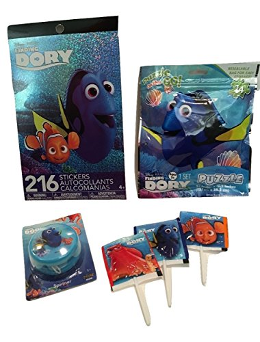 Arts and Crafts Activity Pack For Kid's, Children; Finding Dory; Birthday Gift, Christmas Stocking Stuffers; 3 Mini Lollipops, 24-pc Jigsaw Puzzle, Sticker Booklet (216 stickers), Yo-Yo; 6-pc
