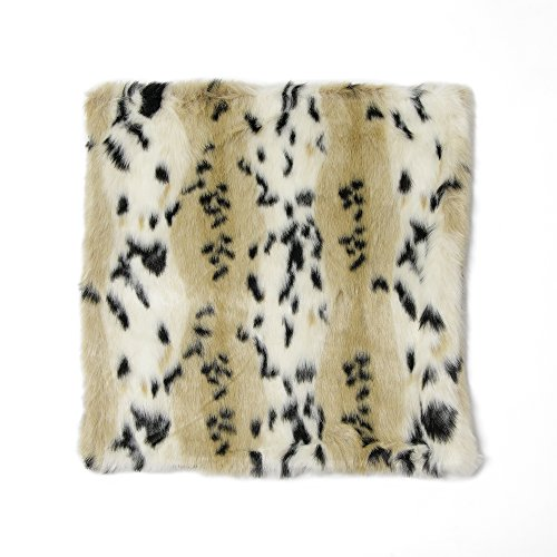 Best Home Fashion Lynx Faux Fur Pillow Colllection 24