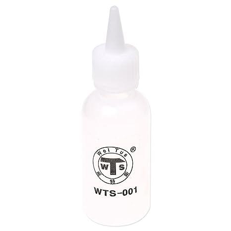 SODIAL (R) Blanco pegamento para plastico liquidos de contenedores Botella Dispensador