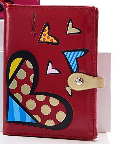 cute hearts print wallet