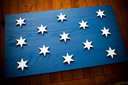 (Washington Headquarters Wood Flag - George Washington HQ Wood Flag - Revolutionary War Flag)