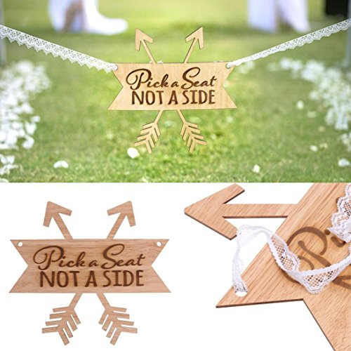 Yeefant Wooden Hanging Plaque Board Wedding Scene Home Wall Ornament Gifts Vintage Party Event Banquet Anniversary Decoration–Favors Signs Natural Color Set for Living Room Bedroom,10.7x10x0.1 Inch