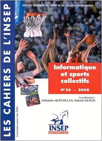 Livre Cahier INSEP numéro 26 ; information et observation sports pdf ebook