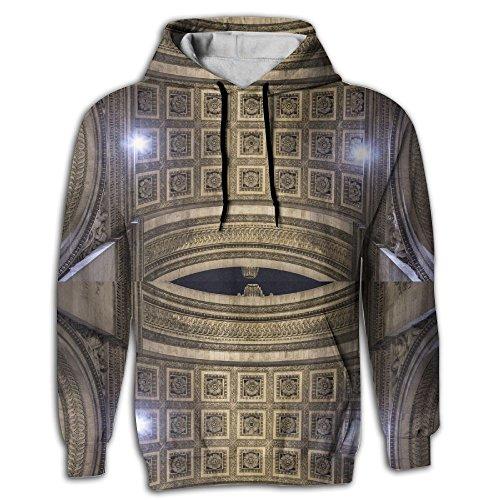 YUANSHAN Triomphe Men's Sweatshirt 3D Print Hoodies With Pockets Pullover Hooded]()