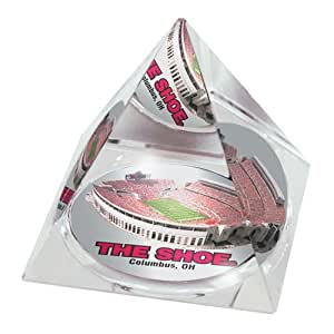 NCAA Ohio State Buckeyes Shoe Crystal Pyramid Paperweight