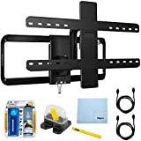 Sanus 51''-70'' Premium Series Full-motion TV Wall Mount/10-95 (VLF515) with TV/LCD Screen Cleaning Kit, Magnetic Stud Finder, Carpenter Pencil, Microfiber Cleaning Cloth & 2x HDMI to HDMI Cable 6'