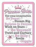 princess bedroom ideas Honey Dew Gifts Princess Decor, Princess Rules, 9 x 12 inch Metal Aluminum Novelty Tin Sign Decor