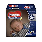 HUGGIES OverNites Diapers, Size 3, 68 ct, BIG PACK Overnight Diapers (Packaging May Vary)