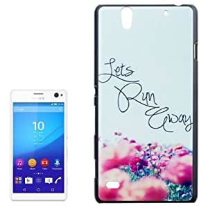 Words and Flowers Pattern Protetive Case for Sony Xperia C4