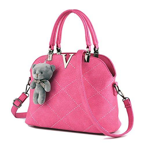 RUIREN Bolso Portátil Messenger Shoulder Bag Roja Rosa