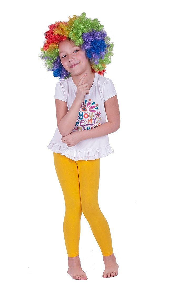 Leggins con colori intensi da ragazza 95/% cotone giallo /12/anni et/à 3/anni/ lunghezza intera
