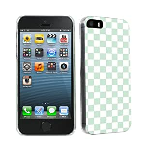 Apple iphone 5 or 5s Ultra Slim Light Weight Clear Plastic Cover Case By SkinGuardz - Mint Checker