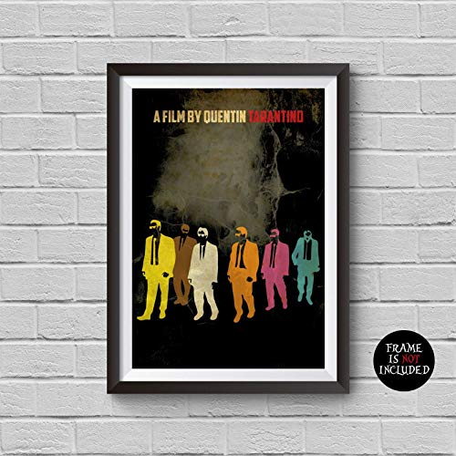 Reservoir Dogs Minimalist Poster A Quentin Tarantino Alternative Movie Print Harvey Keitel Tim Roth inspired Cult Film Illustration Home Decor Artwork Wall Art Hanging Gift Idea