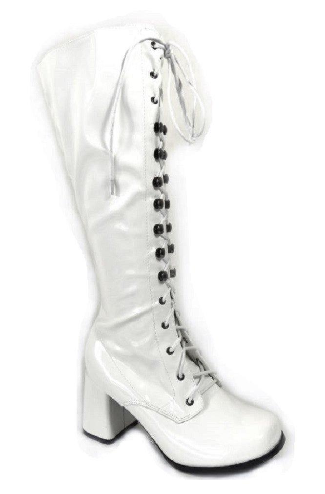 Bottes (11828) de go-go pour femme Pour déguisement déguisement B000LEQMF2 années 1960/70 Style Rétro White Patent (11828) 101397d - automatisms.space