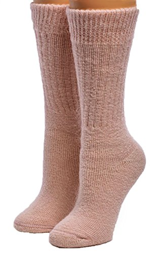Warrior Alpaca Socks - Women's Toasty Toes Ultimate Alpaca Socks (Medium, Pink Heather) ()