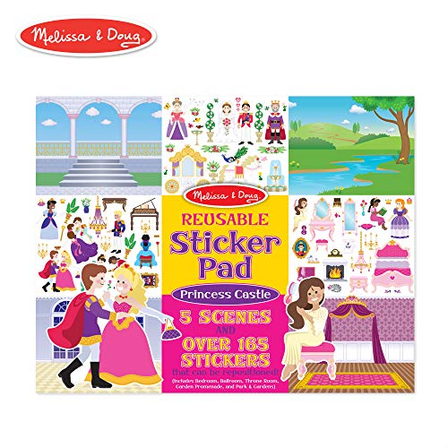 Melissa & Doug Reusable Sticker Pad: Princess Castle (200+ Stickers and 5 Scenes)