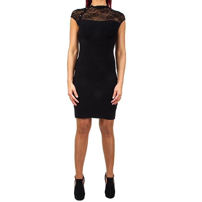 GUESS JEANS W63K29Z1AJ0 Vestido corto Mujer NERO A996 M