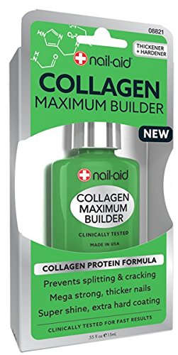 NAIL-AID Collagen Power Coat, Clear, 0.55 Fluid Ounce