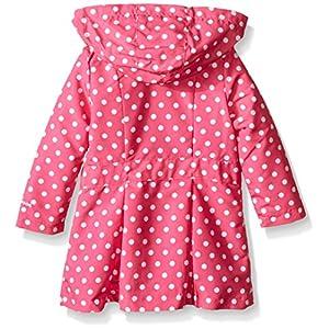 London Fog Little Girls' Toddler Lightweight Polka Dot Trench Coat, Pink, 3T