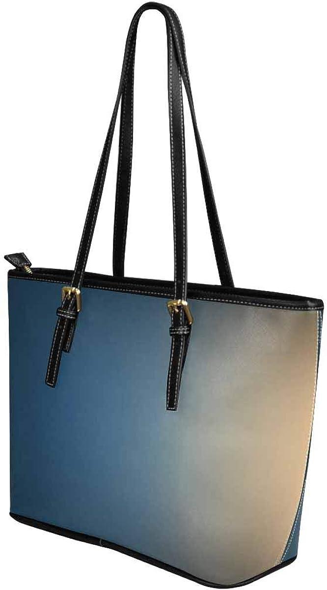 InterestPrint Custom PU Leather Totes Top Handle Casual Shoulder Bags