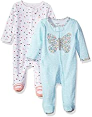 Carter's Baby-Girls 2-Pack Cotton Sleep and Play Ro